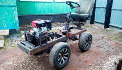 Самодельный трактор переломка 4х4