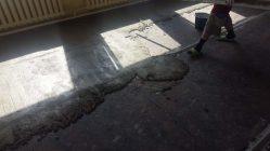Укладка паркетной доски на асфальт песок битум